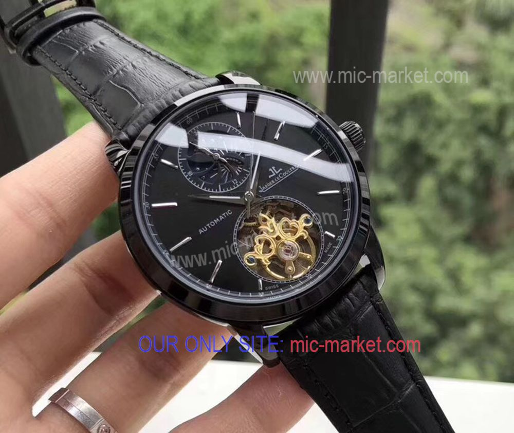 2018 Copy JAEGER-LECOULTRE All Black Mens Watch