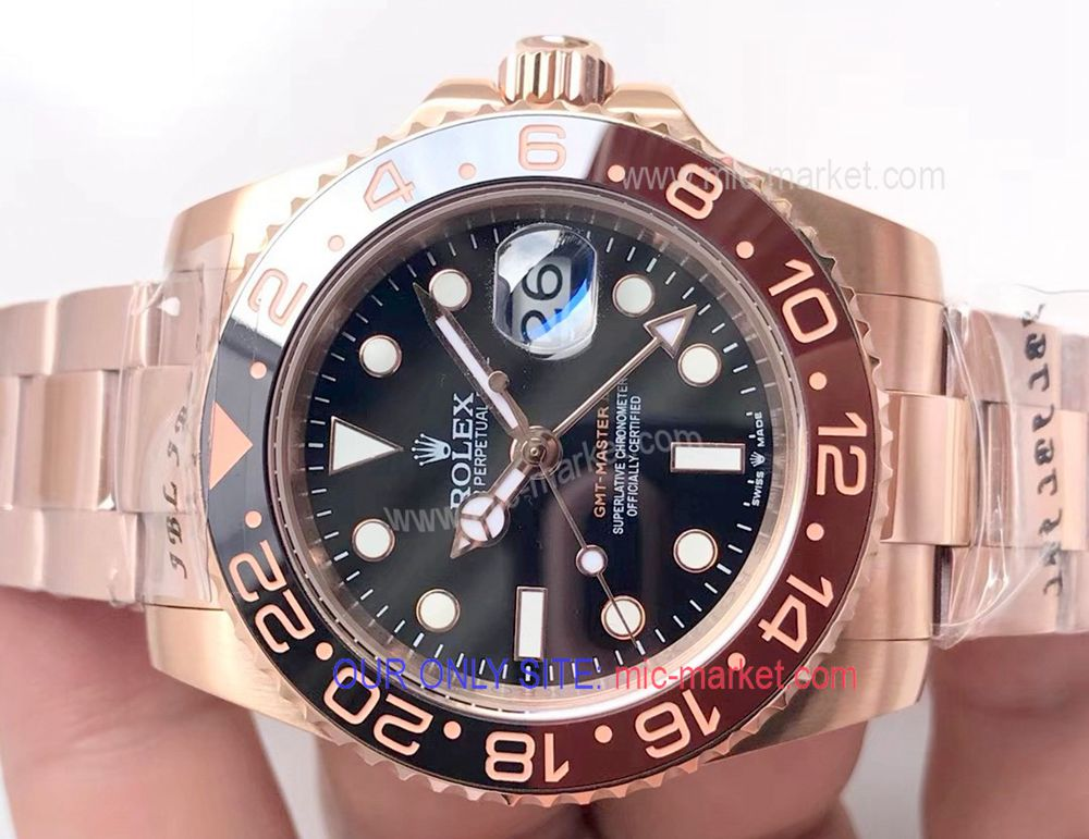 2018 New Basel World GMT-master II Rolex Watch Rose Gold Case