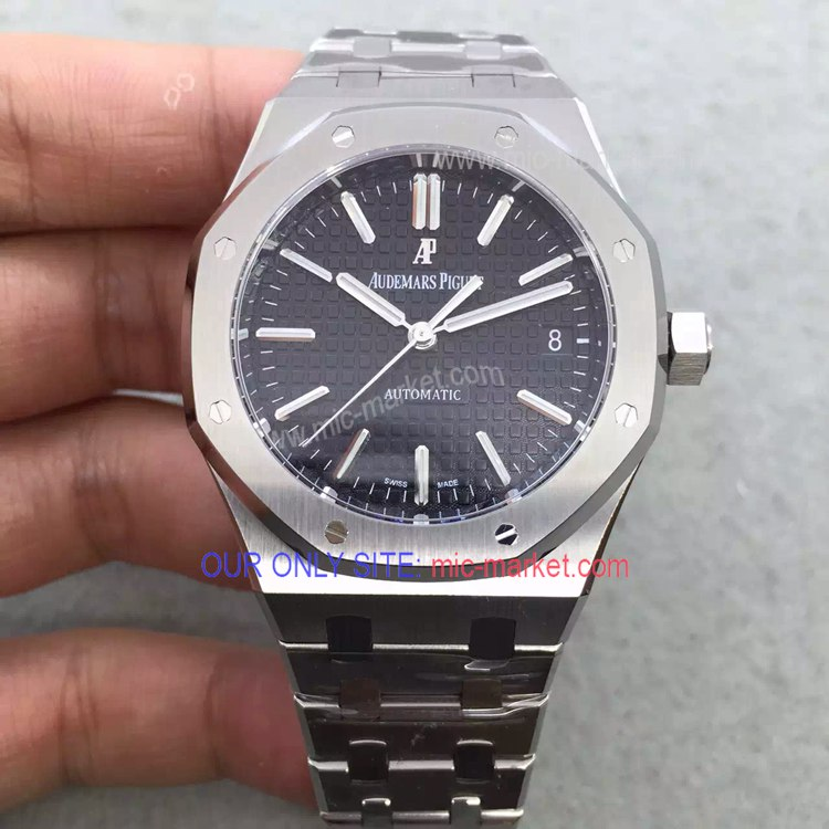 Audemars Piguet Automatic Royal Oak SS Black Replica Watch