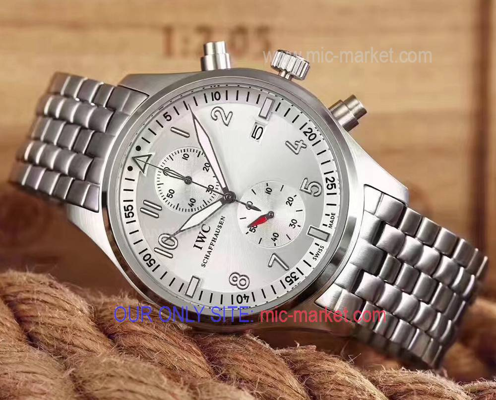 Best Replica IWC Top Gun Watch Stainless Steel Silver Face 43mm