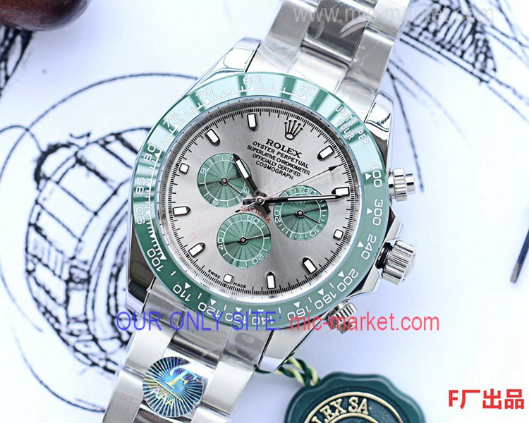 Best Replica Rolex Daytona 43mm Men Watch Green Ceramic