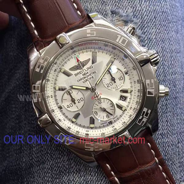 Breitling Chronomat B01 Replica Mens Watch/ SS White Chronograph