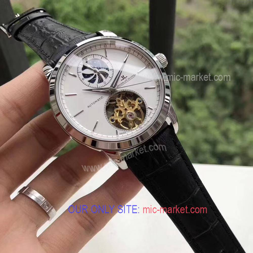 Fake Jaeger Le coultre Flying Tourbillon Watch White Dial