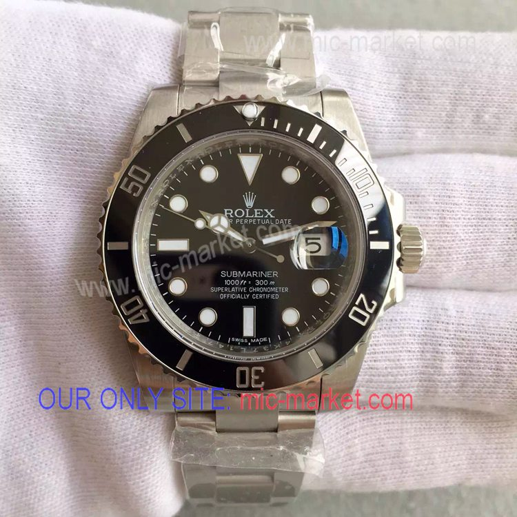 Noob Upgraded Rolex Black Ceramic Submariner Replica Watch