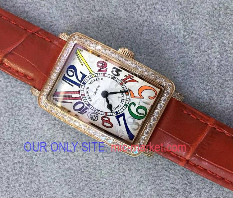 Franck Muller Long Island Colorful Number Lady Watch