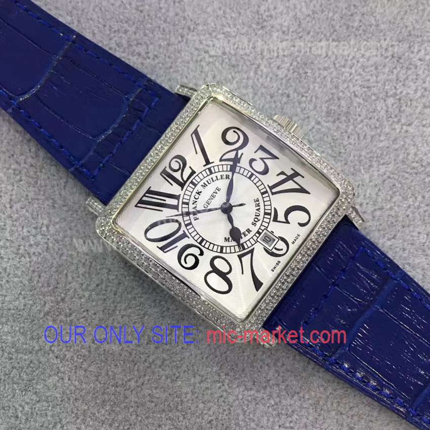 Franck Muller Master Square Replica Watch Blue Leather SS Case