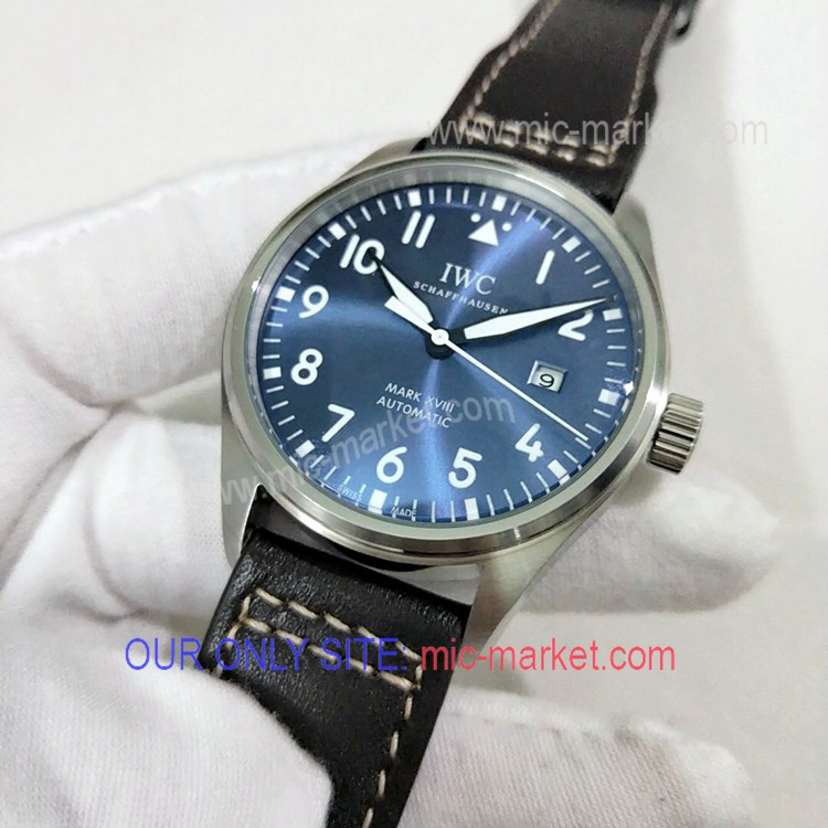Free Warranty AAA Copy IWC Mark XVIII Men Watch Blue Dial
