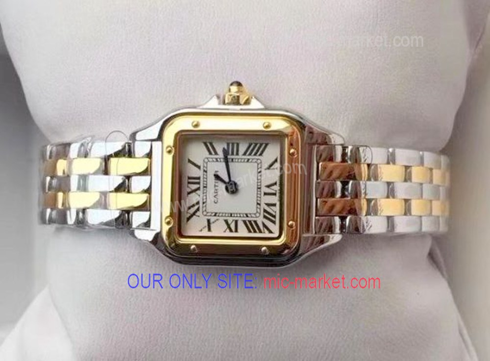 Free Warranty Cartier Watch Demoiselle 2-Tone men and lady