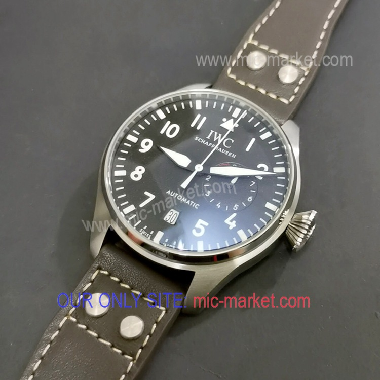 Free Warranty Fake IWC Big Pilot Gray Dial with Power Reserve