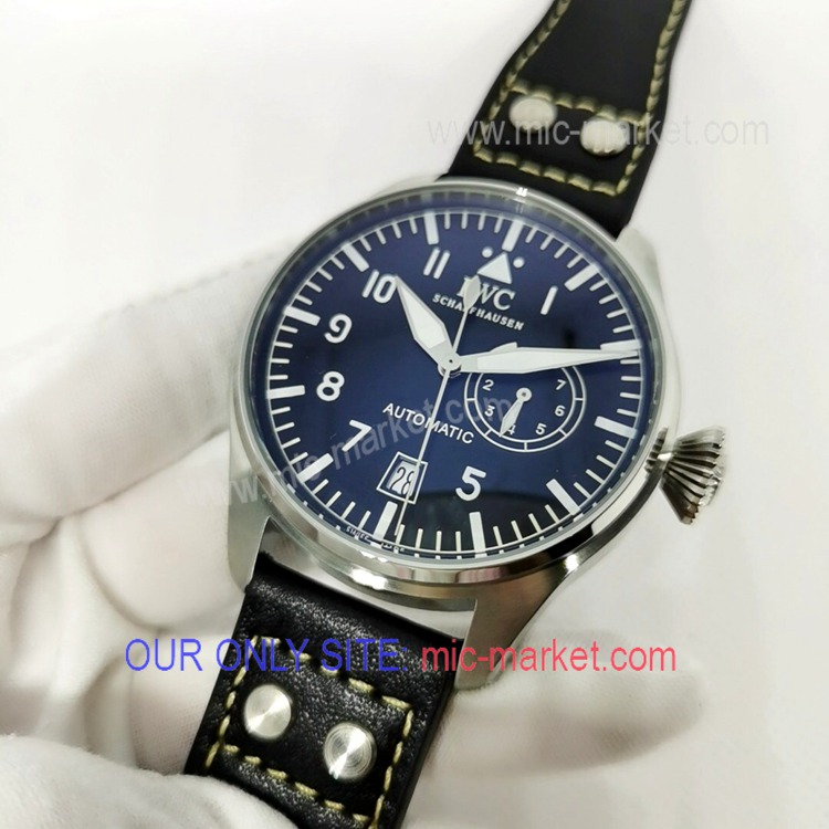 Free Warranty IWC Big Pilot SS Power Reserve Watch 47mm