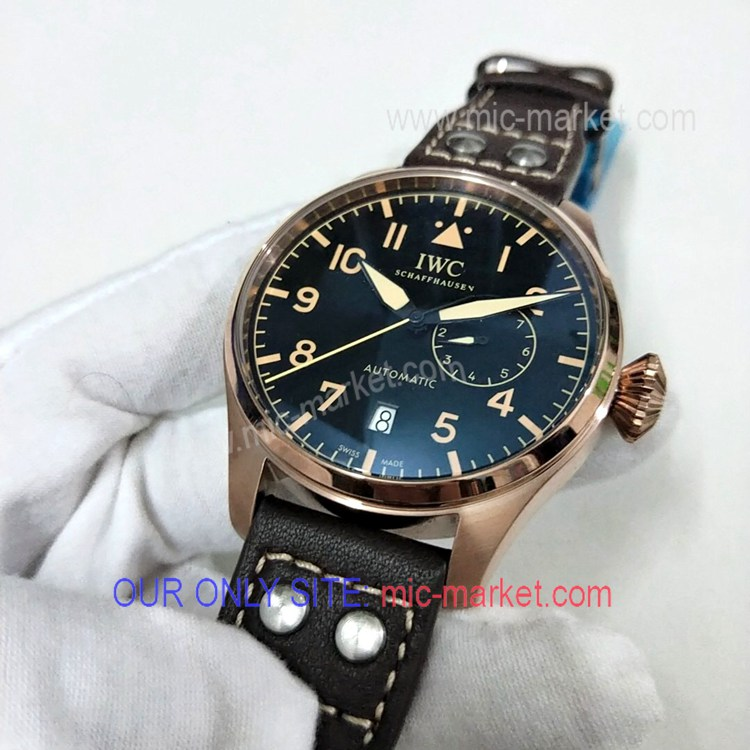 Free Warranty IWC Big Pilot Watch Rose Gold Power Reserve