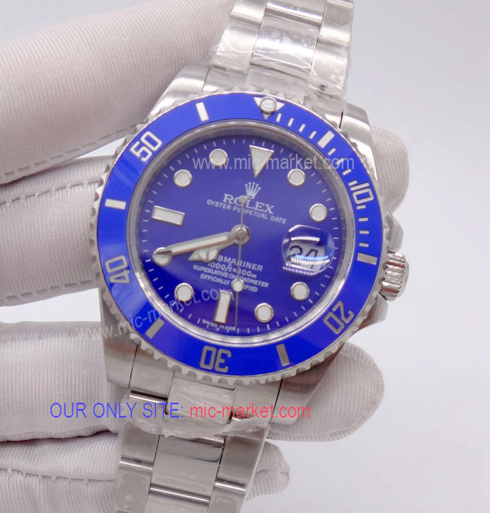 Noob Upgraded Rolex Submariner Replica Watch / SS Blue Dial 40mm