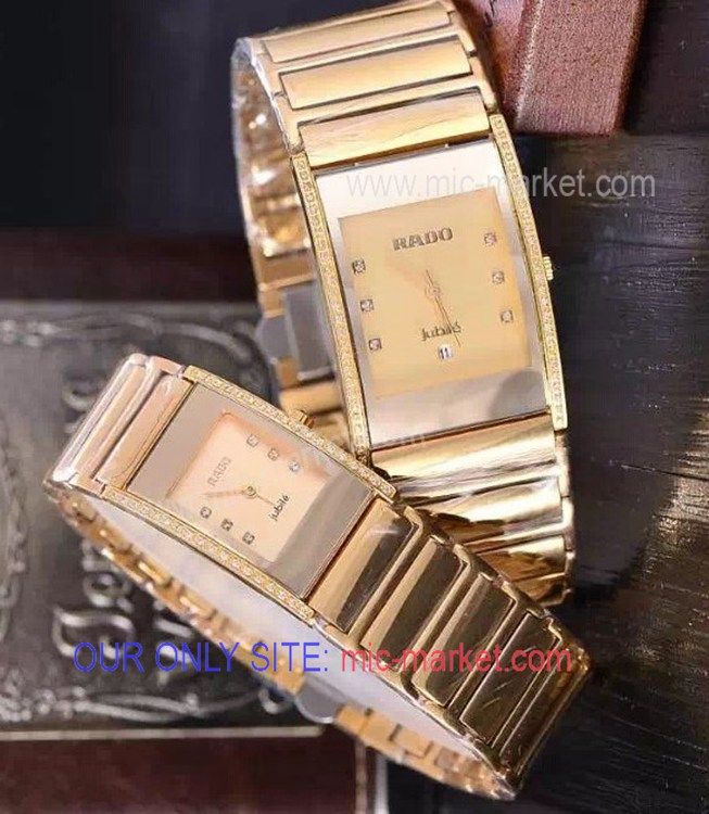 Rado Integral Jubile Gold Tungsten Diamond Copy Watch - Men 35mm