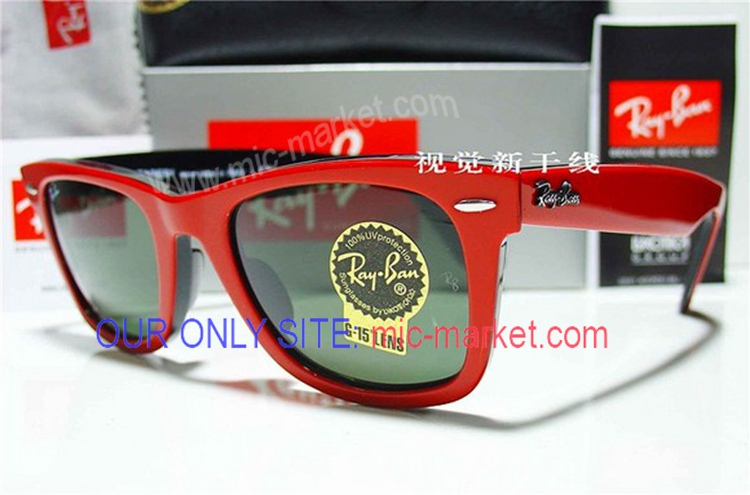 Replica Rayban Wayfarer RB Red And Black Sunglasses On Sale