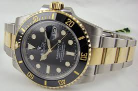 Free warranty Rolex 2-Tone Black Ceramic Submariner Replicawatch