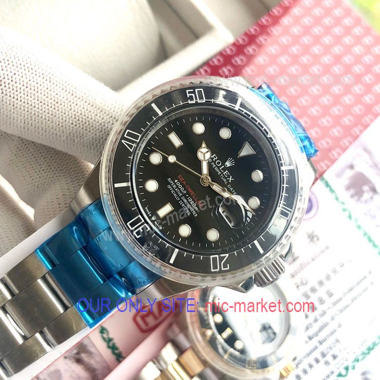 Rolex 43mm Sea-Dweller Stainless Steel Men Watch New!
