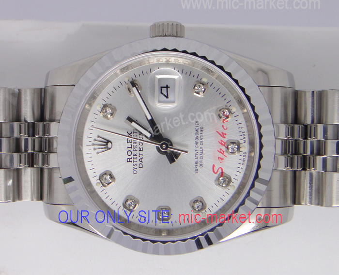 Copy Rolex Datejust Watch: SS Jubilee Silver Face