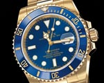Rolex All Gold Blue Face Submariner